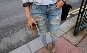 Такие модные дырявые джинсы!