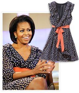 Мишель Обама в стильном и недорогом платье марки H&M