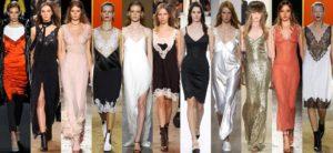 Платье в бельевом стиле новый стиль 90-х