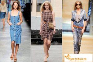 Лен, Ситец, Джинсовая ткань - идеальны для платьев сшитых в уличном стиле