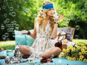 Женская одежда для пикника - свободный и стильный сарафан