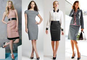 Современный деловой стиль одежды приказывает отправить в дальний угол мини-юбки, сексапильные топы