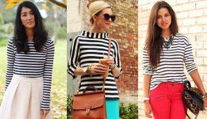 Рубашка в полоску сочетается абсолютно с любой одеждой и сразу создает парижский стиль