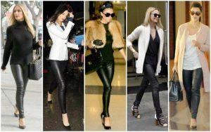 Черные брюки-дудочки в парижском стиле