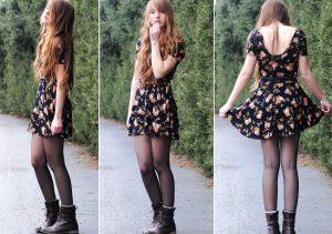Платье и грубые ботинки - ультрасовременный комплект одежды в стиле гранж готов!