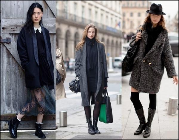 Для стиля гранж подойдет любая обувь, кроме туфель и ботильонов на шпильке