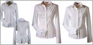 Ни один гардероб в деловом стиле нельзя считать полным, если в нем нет однотонной блузки белого цвета