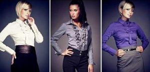 Блузка в деловом стиле у женщин характеризуется сдержанностью и элегантностью