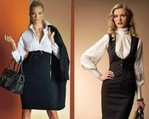 В случае делового стиля, важно, чтоб блузки были однотонных и спокойных оттенков