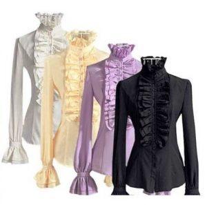 В блузках в викторианском стиле всегда качественная ткань