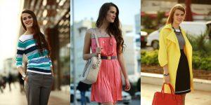 Серую неброскую одежду можно разбавить ярким цветом