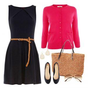 Особенно интересно смотрится кардиган с классическим маленьким чёрным платьем