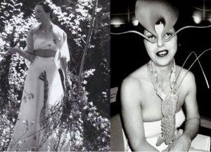 Стиль ретро от Эльзы Скиапарелли был экстравагантен, эпатажный с элементами космоса и фантастики