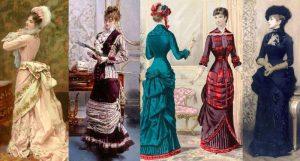 Платья в викторианском стиле были в виде песочных часов