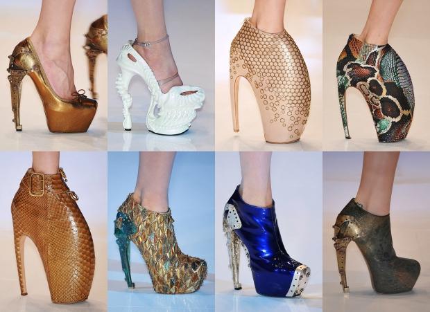 Обувь в авангардном стиле, поражает своей неординарностью