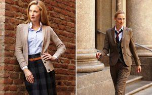 В английском стиле  одежды в одном образе сочетаются лаконичность, консерватизм и классика
