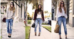 Бохо стиль джинсы бойфренды приветствует и без дополнительного декора