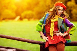 Женщины интуитивно подбирают цвета, относящиеся к временам года - женщина -осень