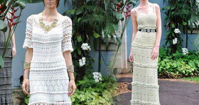 Вязаные платья в стиле бохо, как подобрать и с чем носить c284fead663