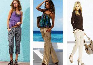 Женские брюки карго будут хорошо смотреться и с футболкой, и со свитером, и с майкой