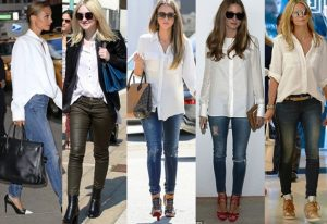 Блузы и рубашки в стиле casual стоит выбирать светлые и однотонные