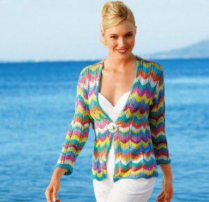Жакет в стиле миссони разбавит привычный гардероб и сделает образ ярким