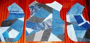 Сшитые между собой лоскуты ткани могут быть разной и неодинаковой формы