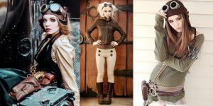 Одежда в стимпанк стиле ассоциируется с техническим прогрессом прошлых столетий