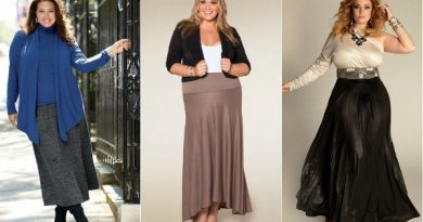 Длинная юбка в пол для полных женщин