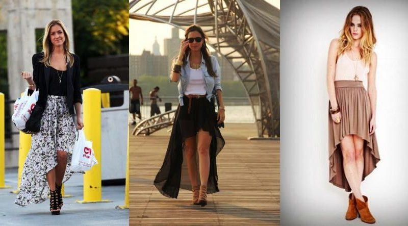 Асимметричная длинная юбка