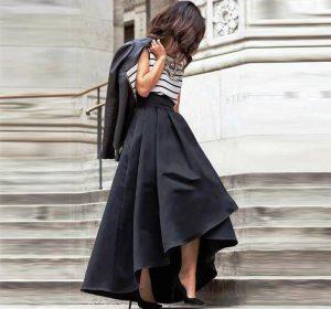 Асимметричная длинная юбка поможет изменить образ и преобразить гардероб