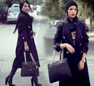 Женское пальто в стиле милитари для наступающего сезона выбирайте однотонное темных цветов