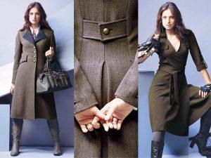 Ткани, используемые для создания пальто в стиле милитари должны выглядеть дорого и быть натуральными