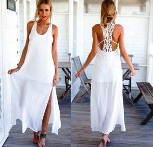 Платья белого цвета вызывают восхищение, обращая всеобщее внимание на обладательницу этого наряда, даже если платье сделано в простом варианте без кружев и узоров