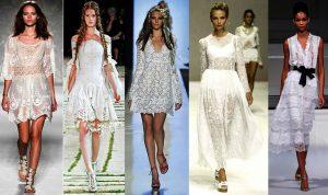 Кружевные платья белого цвета никогда не были забыты современными дизайнерами и продолжают набирать популярность