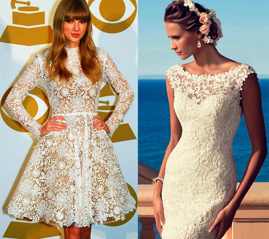 Красивые гипюровые и кружевные платья