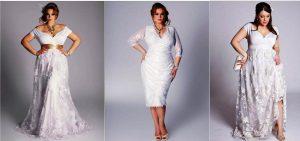 Обладательницам аппетитных форм стоит подумать о применении корректирующего нижнего белья, чтобы подчеркнуть достоинства, скрывая нежелательные зоны и гордо носить бесподобное белое платье с кружевом