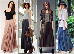 Самый важный вопрос: «С чем носить длинную плиссированную юбку в этом сезоне?»