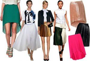 Черные, розовые и серебристые плиссированные юбки - основной модный хит этого сезона