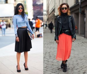 Комбинировать плиссированные юбки с другой одеждой нужно в том стиле, который подходит вам С чем носить черную плиссированную юбку