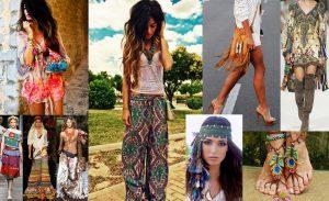 Одежда в стиле хиппи должна пестрить всеми цветами радуги, создавая атмосферу радости и оптимизма. Ограничений быть не должно!
