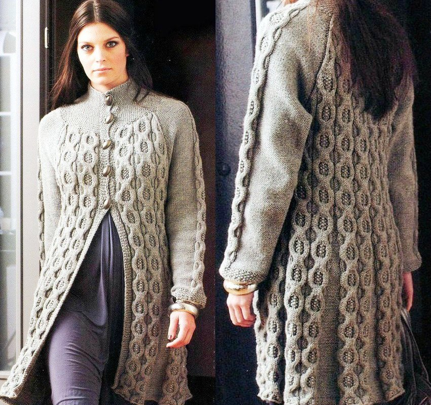 Вязание кардиган для женщины спицами