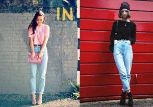 Девушки со стройной фигурой могут комбинировать джинсы-бананы с короткими топами