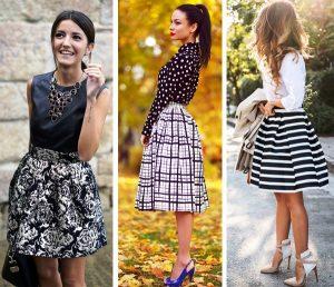 По видению модельеров юбка-колокол, скрадывая недостатки, придает женственность любой фигуре