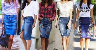 Юбка-карандаш из джинсовой ткани