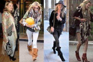 Кейт Мосс предпочитает одежду в стиле Бохо