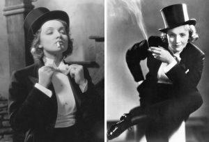 В мужских костюмах Марлен Дитрих выглядела невероятно женственно