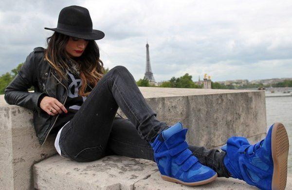 кроссовками Isabel Marant