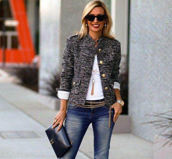 Твидовый пиджак - универсальная вещь и основа базового гардероба