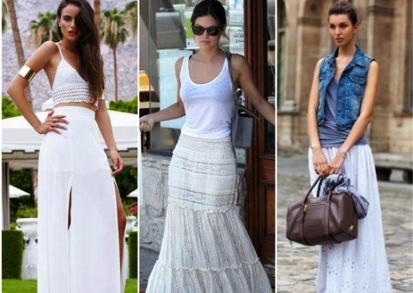 С белой длинной юбкой вы можете создать неповторимый стильный образ